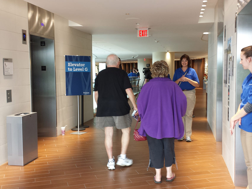 People greeted by brand ambassadors at OhioHealth event